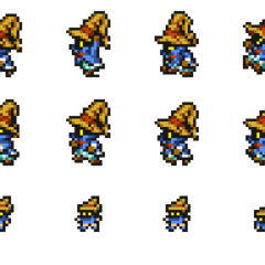 Set of Vivi's sprites.