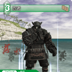 Trading Card of a Galka as a Ninja.
