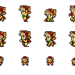 Set of Relm's sprites.