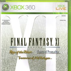 <i>Final Fantasy XI</i> norte americano incluindo: <i>Rise of Zilart</i>, <i>Chains of Promathia</i>, e <i>Treasures of Aht Urhgan</i> (2006).