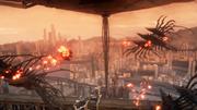 Gralea with airborne daemons in FFXV