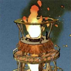 Artwork of Kilika Temple fire.