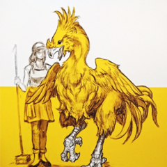Chocobo and a groomer.