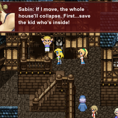 Sabin holding up the collapsing house (iOS/Android/PC).