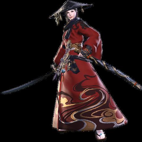 Red Mage render for <i>Final Fantasy XIV: Stormblood</i>.