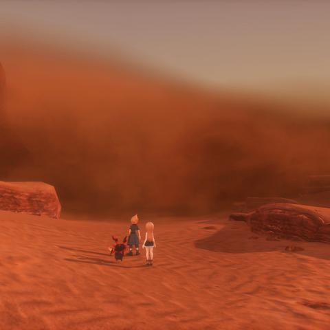 Sandstorm blocking the north