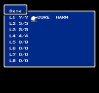FF NES Magic Menu