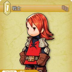 Warrior trading card (Earth).