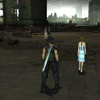 Трущобы Сектора 5 в <i>Crisis Core -Final Fantasy VII-</i>.
