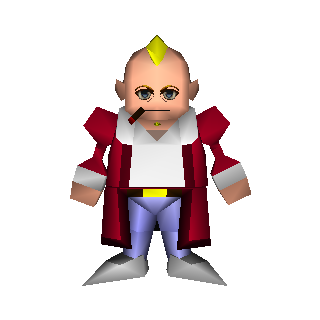 Field model of Don Corneo in <i>Final Fantasy VII</i>.