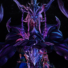 Caius in the form of Jet Bahamut.