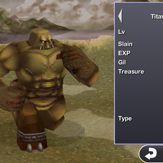 Titan in the iOS version.