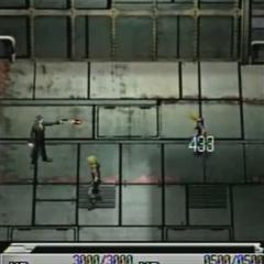 Tseng attacking in <i>Before Crisis -Final Fantasy VII-</i>.
