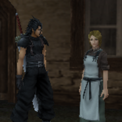 Cloud's mother and Zack Fair in <i>Crisis Core</i>.