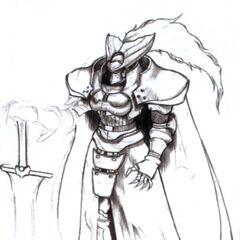 Arte do Arthur com a Excalibur em <i>Final Fantasy VII</i>.