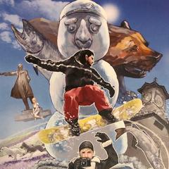Официальная открытка, нарисованная постановщиком FFXV Такаши Хондзо. Распространялась в марте 2019 года на Animate Sapporo.