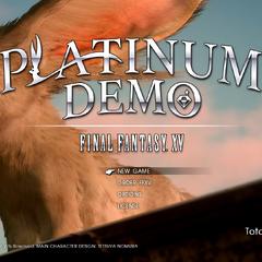 Стартовый экран <i>Platinum Demo</i>.