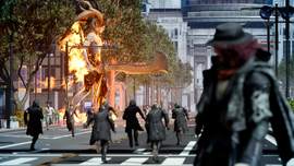 Ifrit in Insomnia in FFXV Episode Ardyn