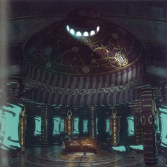 Arecia's laboratory (unused; ceiling has the pattern of Rubicus from the final game).