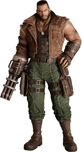 Barret Wallace from FFVII Remake render(1)