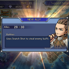 Recruiting Balthier's textbox.