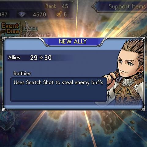 Recruiting Balthier's textbox.