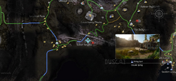 Daurell Spring fishing spot map from FFXV
