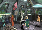 Laguna's statue in Shumi Village from FFVIII Remastered