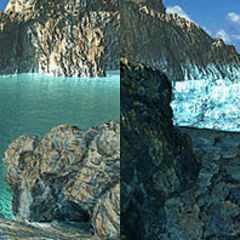 Salt Lake before and after Esthar's experiments. The
