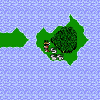 Duster on the world map (NES).