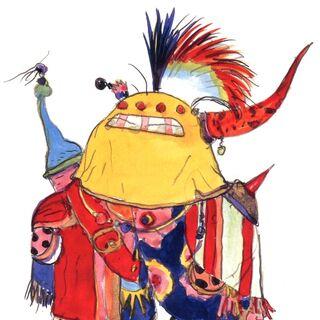 Рисунок Гого в стиле чиби работы Ёситаки Амано.