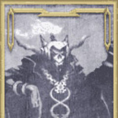 Lich's portrait in the Old Chaos Shrine in <i>Dissidia</i>.