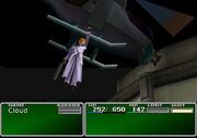 Rufus fleeing from Shinra Headquarters