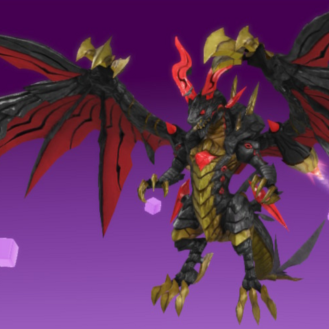 Bahamut as he appears in-game.