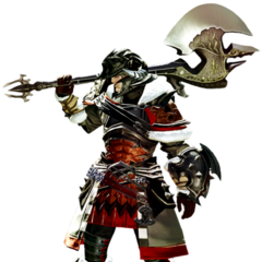 Warrior render for <i>Final Fantasy XIV: A Realm Reborn</i>.