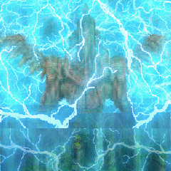 Adrammelech using Judgement Bolt in <i>Final Fantasy Tactics A2: Grimoire of the Rift</i>.