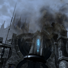 The gate of Ishgard being destroyed in case the players fail the duty.