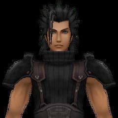 Модель Зака 1-ого класса с его новой прической в <i>Crisis Core -Final Fantasy VII-</i>.