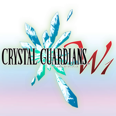 An early logo for <i>Crystal Guardians</i>.