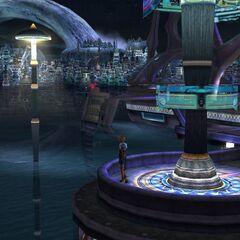 Zanarkand dos Sonhos in-game.