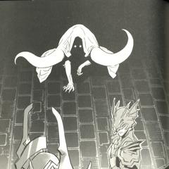 Scarmiglione com Golbez e Kain.
