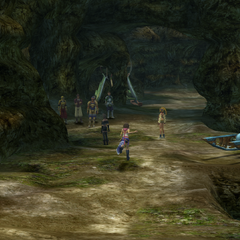 The entrance to the Mushroom Rock Road in <i>Final Fantasy X-2</i>.