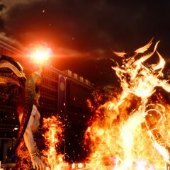 Ifrit summoned against Somnus in <i>Episode Ardyn</i>.