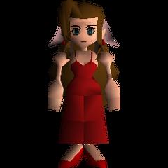 Aeris in her Wall Market dress.