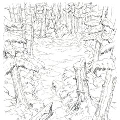 Concept art of the Roaming Forest.
