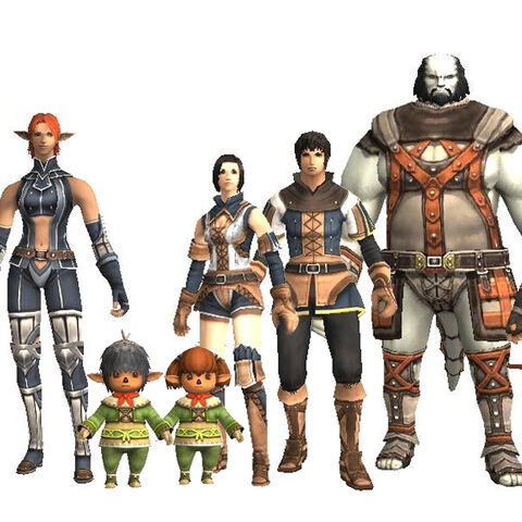 Renders of the five races.