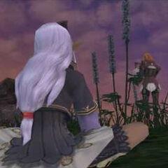 Prishe and Ulmia at the end of <i>Chains of Promathia</i>.