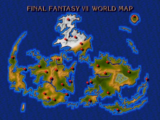 Image FFVII World Mapjpg Final Fantasy Wiki FANDOM powered by