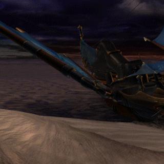 Barco en el que escapó la reina Brahne.
