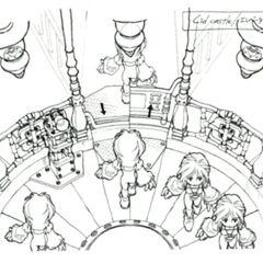 Castle elevator concept art.